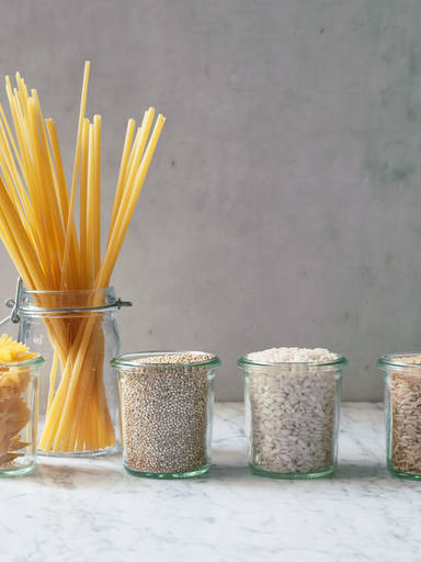 Pasta, rice and other grains