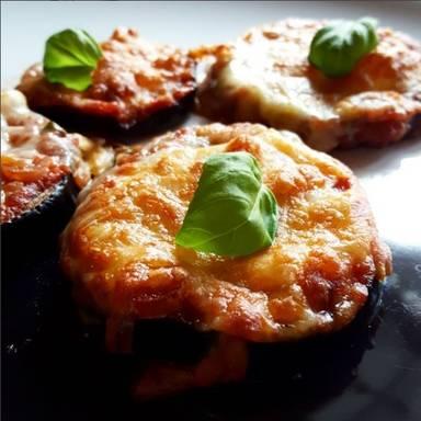 Mini-Auberginen-Pizzas