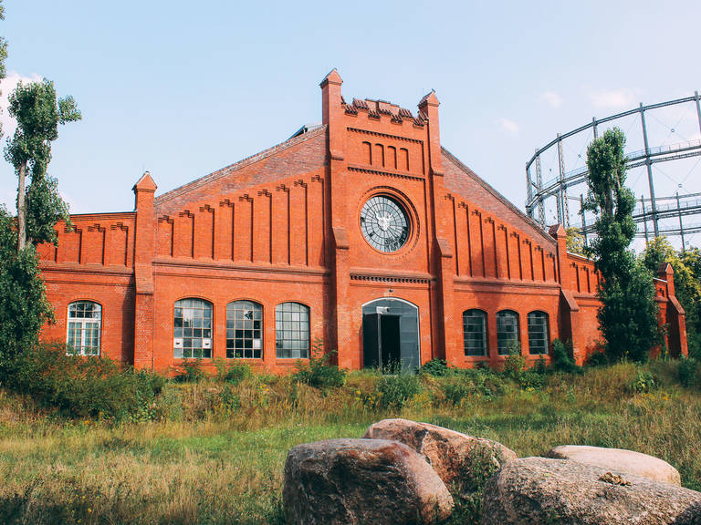 Former gasworks building converted to brewing facility.
