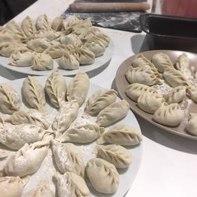 Three savory dumplings