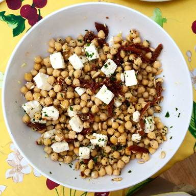 Refined chickpea salad
