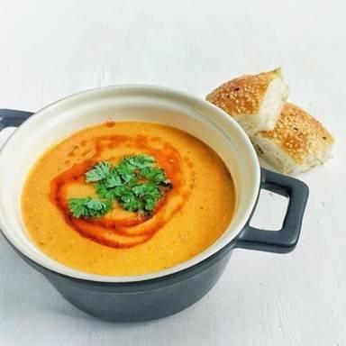 Turkish-inspired red lentil soup