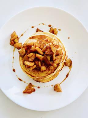 Natural Yoghurt Pancakes with Caramelised Apples