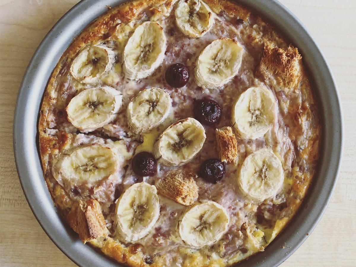 无糖蓝莓香蕉烤燕麦