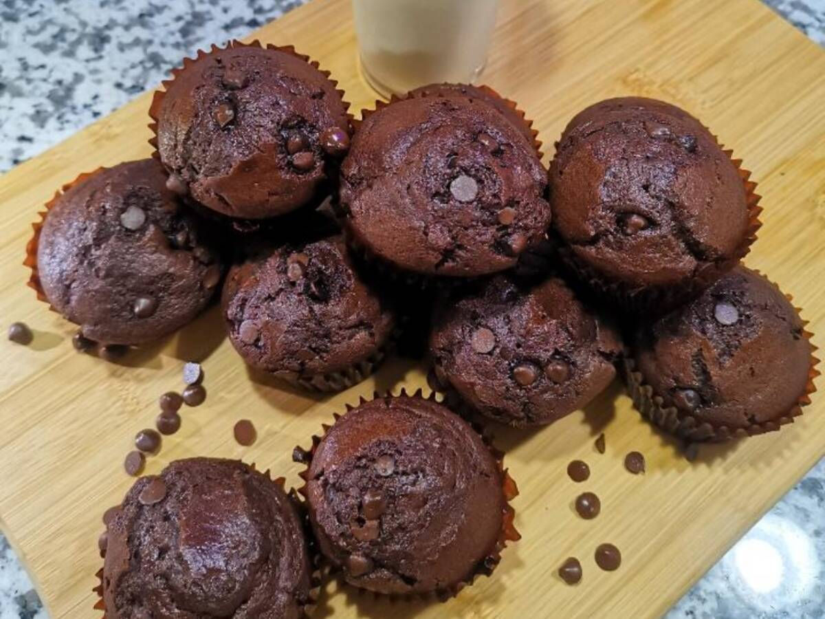 Double choc'late muffin