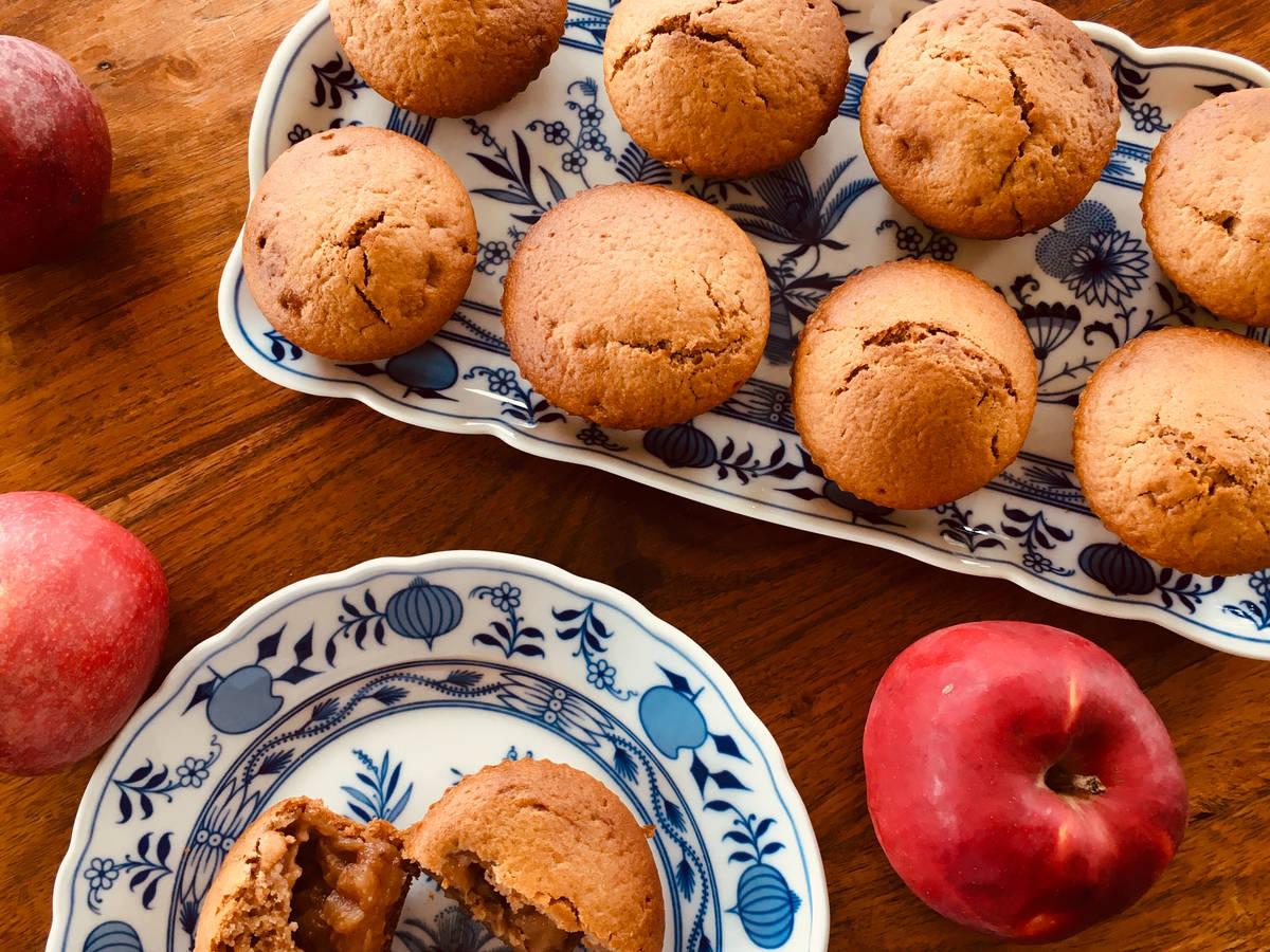Vegane Muffins mit Apfel Zimt Füllung