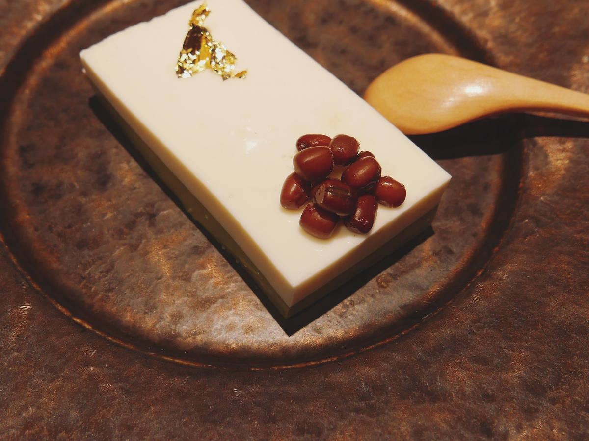 抹茶椰浆意式奶冻佐红豆