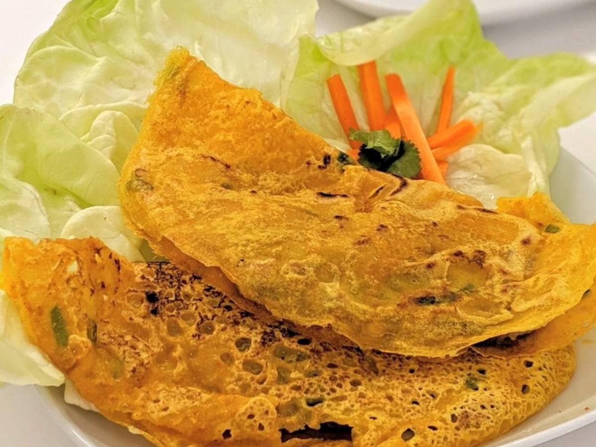 Bánh xèo (knusprige vietnamesische Pfannkuchen)