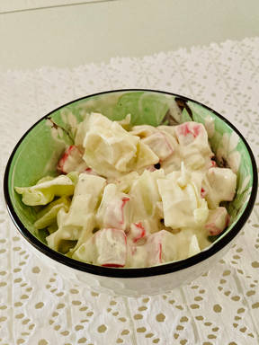 Summer light greens surimi salad