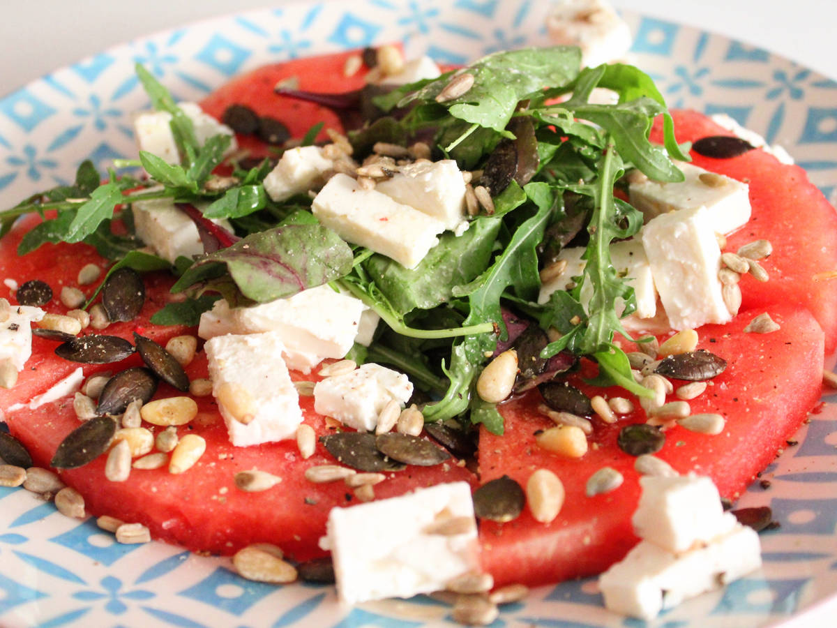 Melonen-Feta Salat
