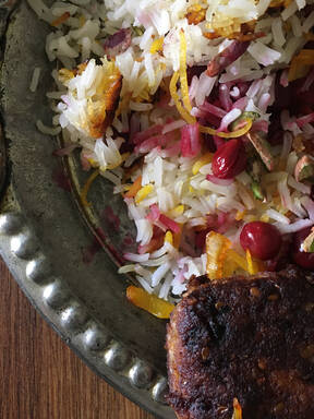 Albalou Polo (Iranian Sour Cherry Pilaf)