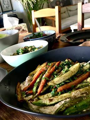 Motabbal with Roasted Vegetables