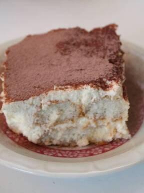 Eierlikör Tiramisu mit weißer Schokolade