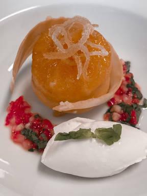 Orange Pudding with Candied orange peel