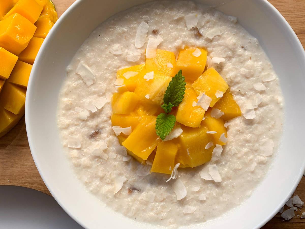 Mango Kokos Reisporridge