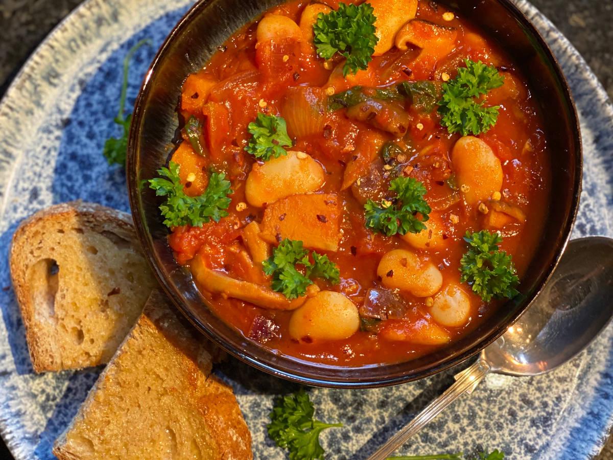 Vegan butter bean stew