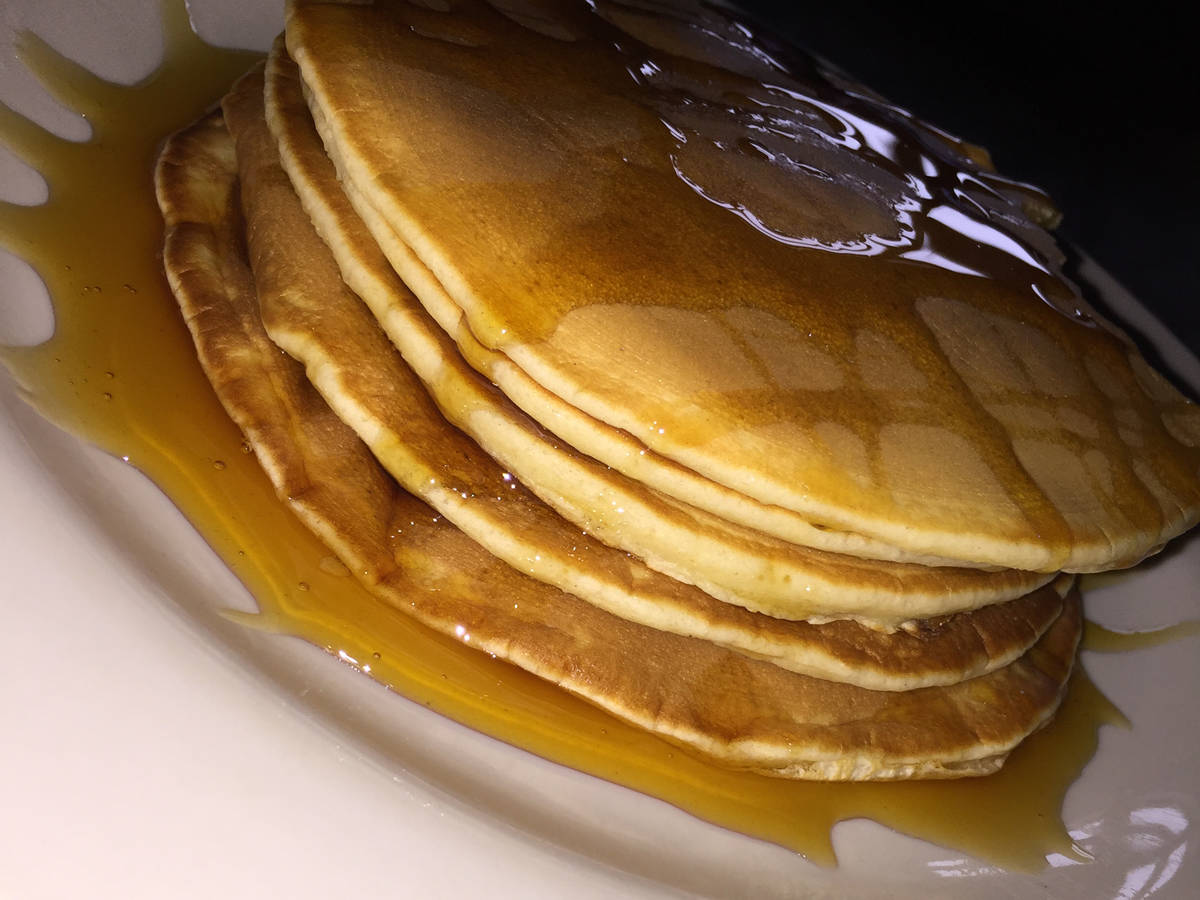Pancakes. The thick kind we know and love.