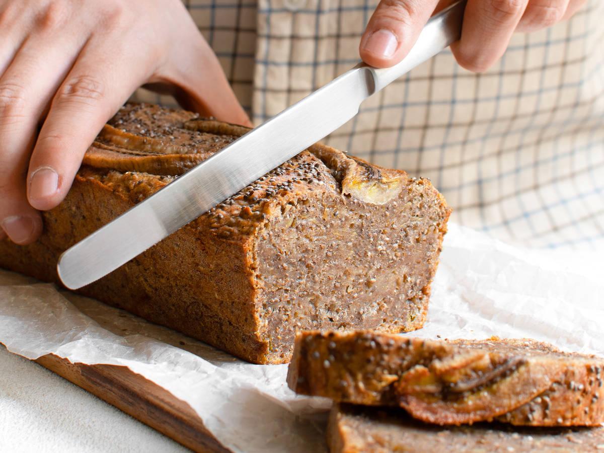 The easiest vegan chia seed banana bread