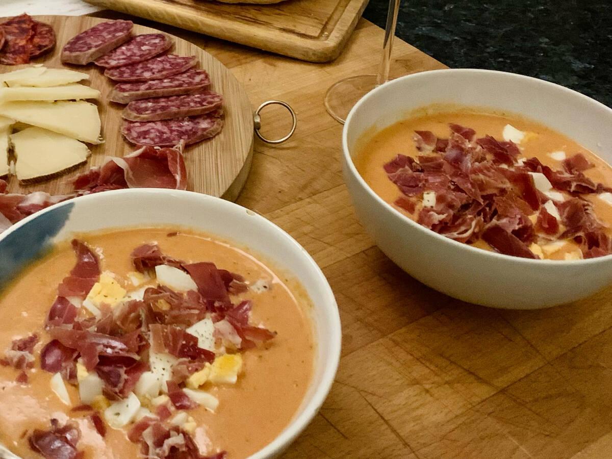Großmutters spanische Salmorejo Suppe