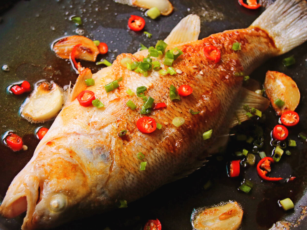"""年年有""""鱼""""-香煎鲈鱼"""
