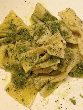 Pasta Pesto (Homemade Farfalle Pasta)