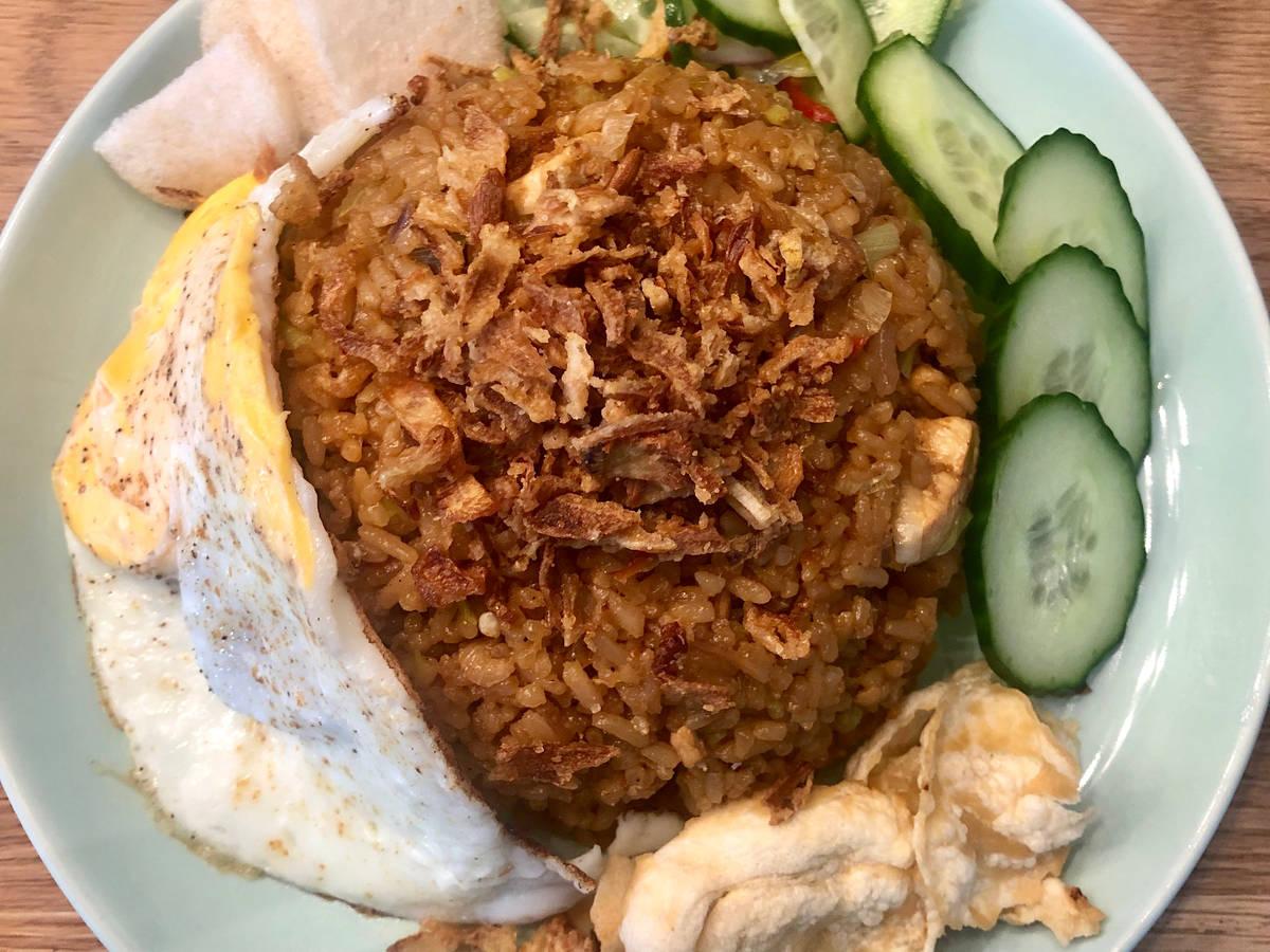 Nasi Goreng with Egg and Atjar