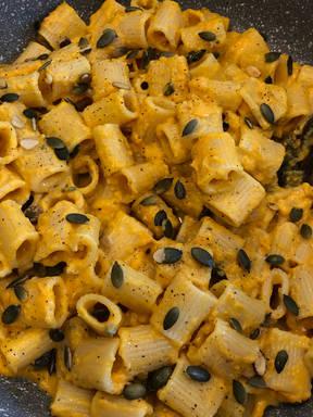 Pumpkin Blue Cheese Rigatoni (pasta)