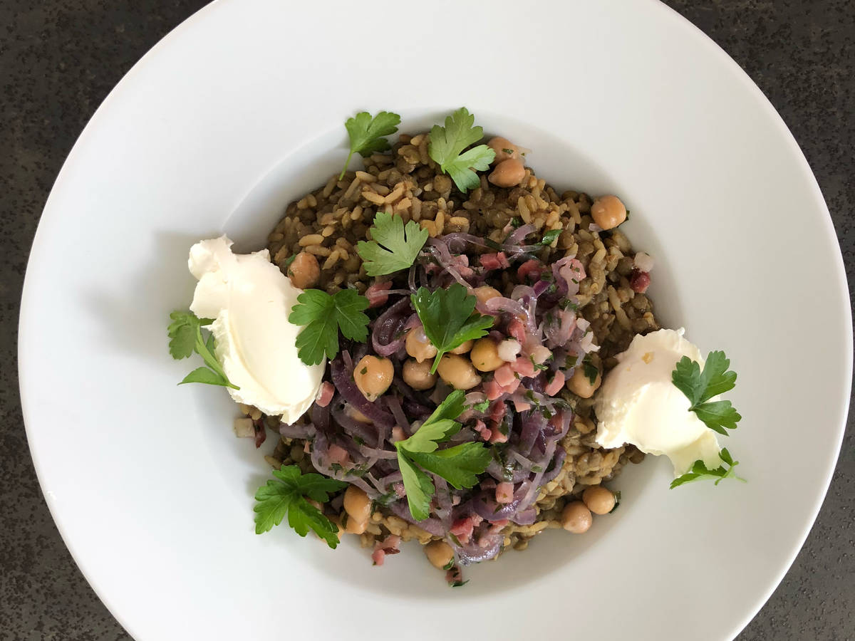 One-pot spiced lentils and rice