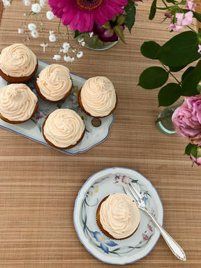 Rhabarber-Vanille Cupcakes