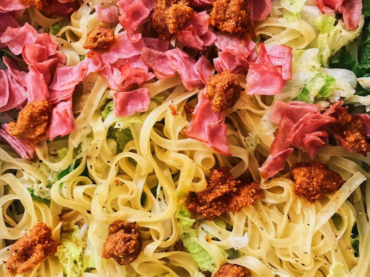 Savoy cabbage pasta