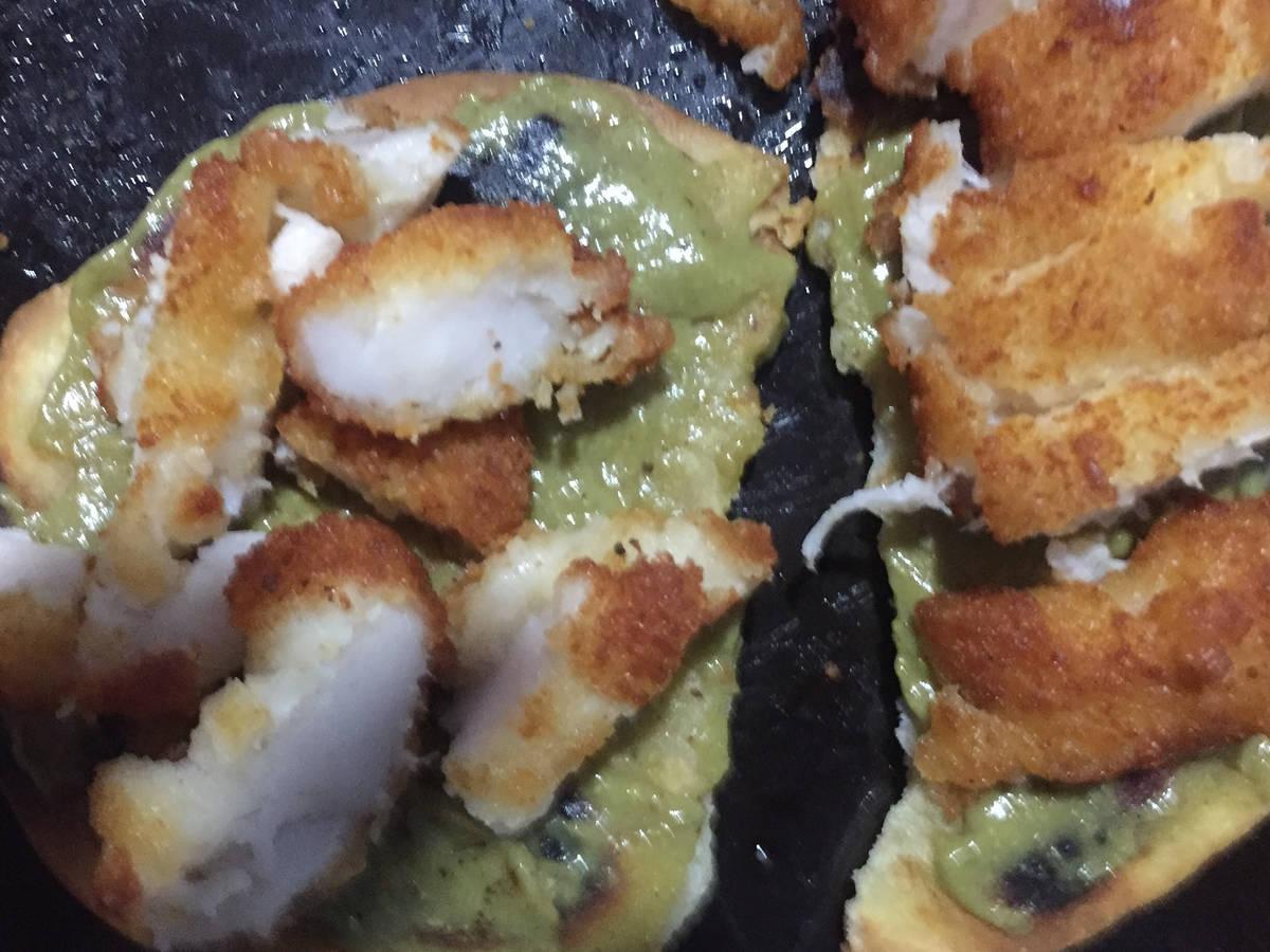 Gluten free-flatbread avocado katsu