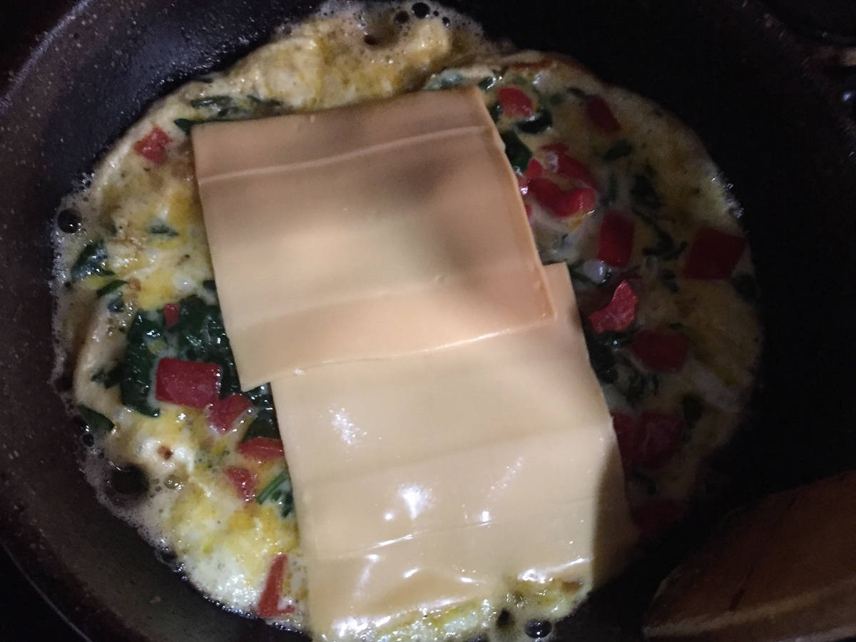 Omellete vegetable with cheese