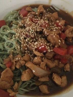Korean jajamayeong with vegetable noodle
