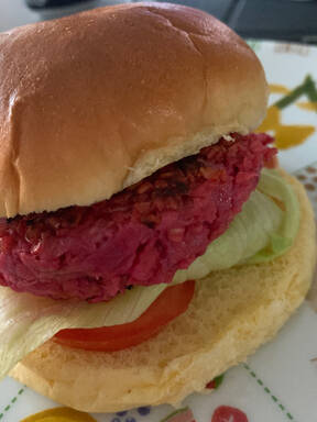 Beetroot and Goat's Cheese Burgers
