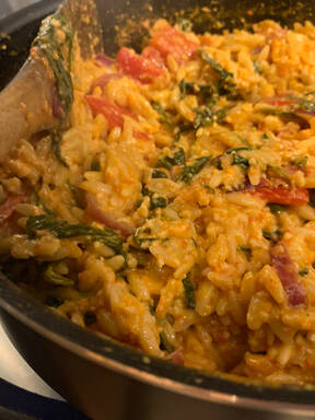 Roasted Red Pepper Orzo