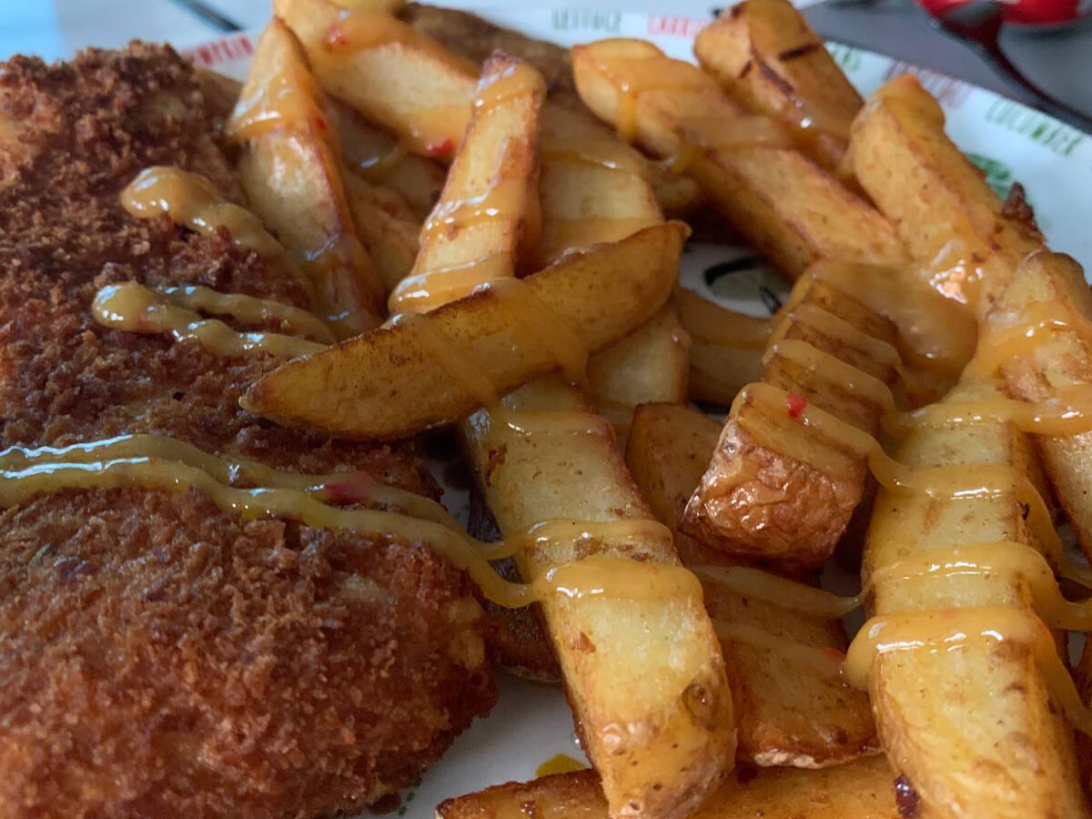 Tropical Fish & Chips with Homemade Mango Ketchup