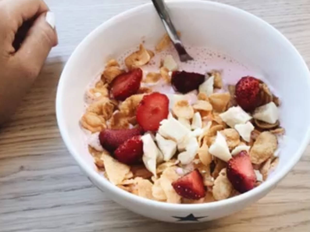 Smoothie with cereals
