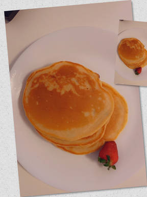 Fluffy dried fruit pancakes