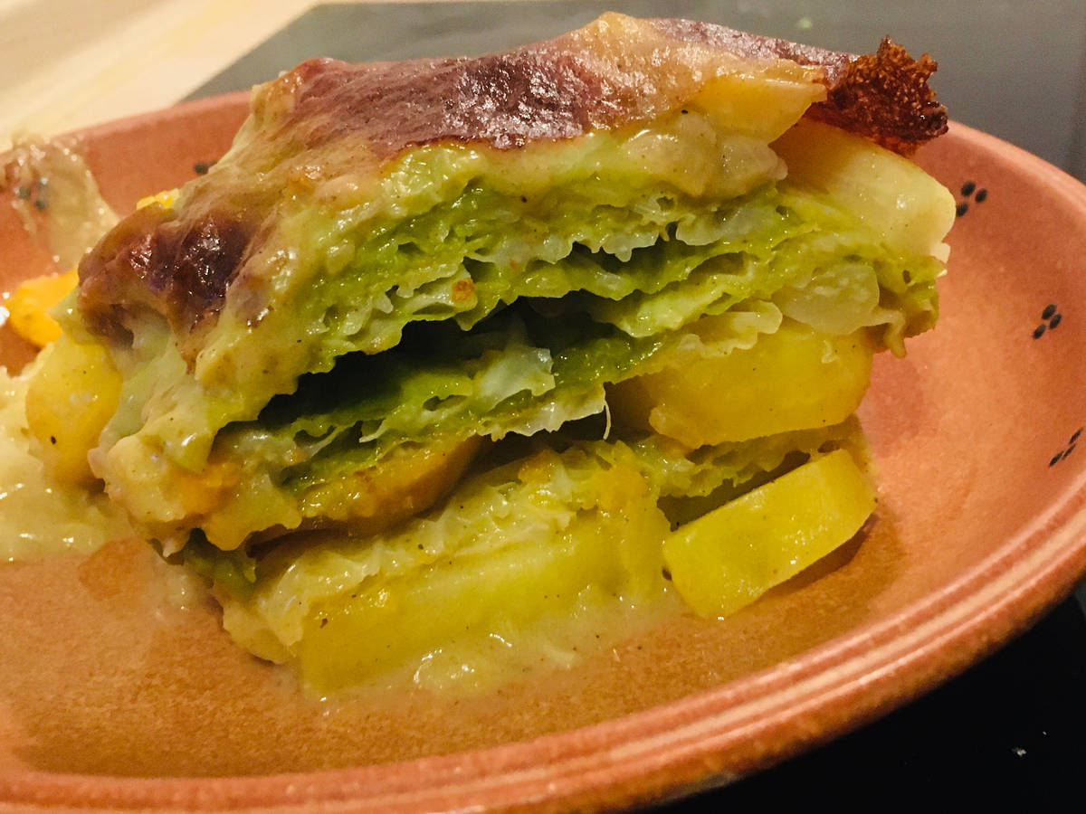 Wirsing-Kartoffel-Auflauf (vegan)