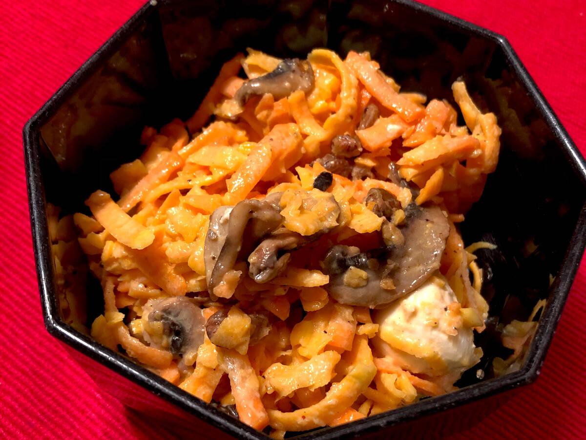 Kürbissalat mit gebratenen Champignons