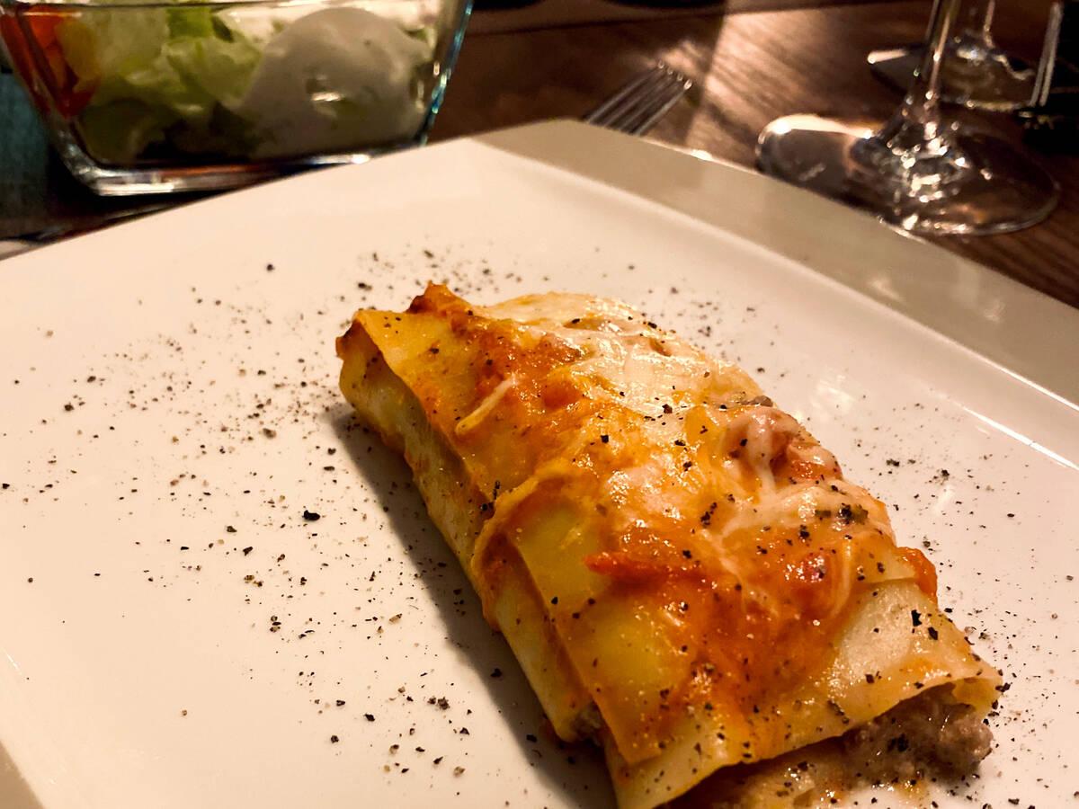 Cannelloni mit Hackfleisch–Champignonfüllung
