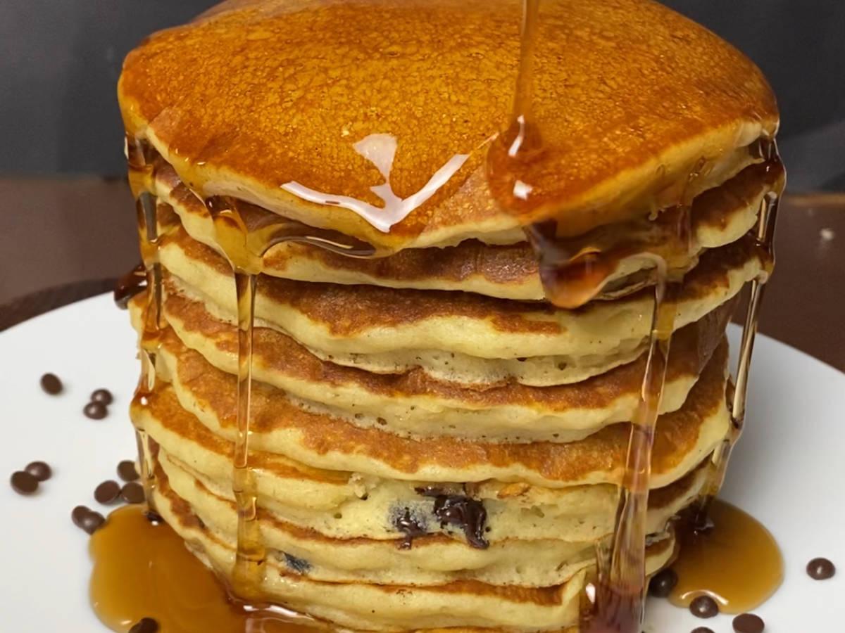 Fluffiest Chocolate Chip Buttermilk Pancakes
