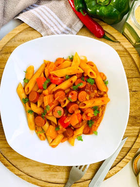 Sausage and bean pasta