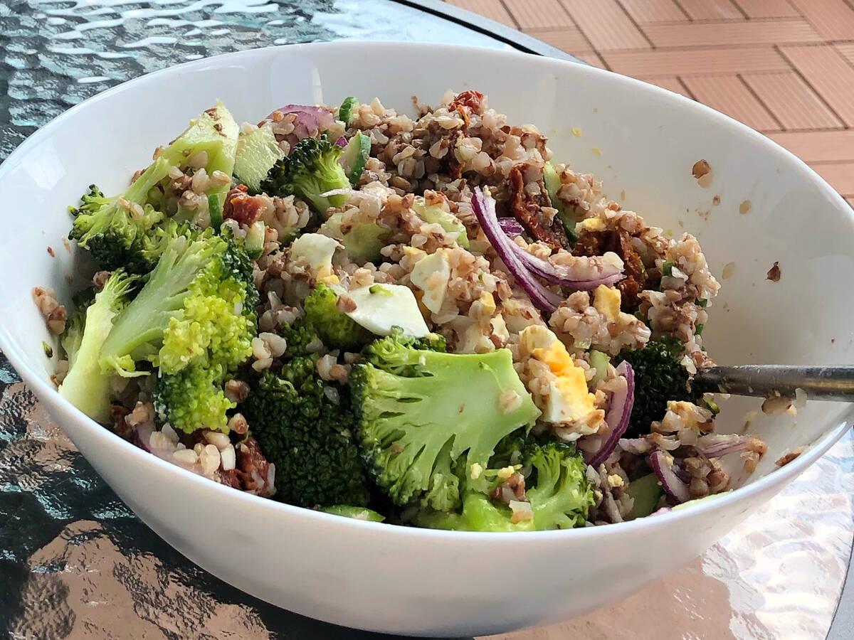 Broccoli egg salads