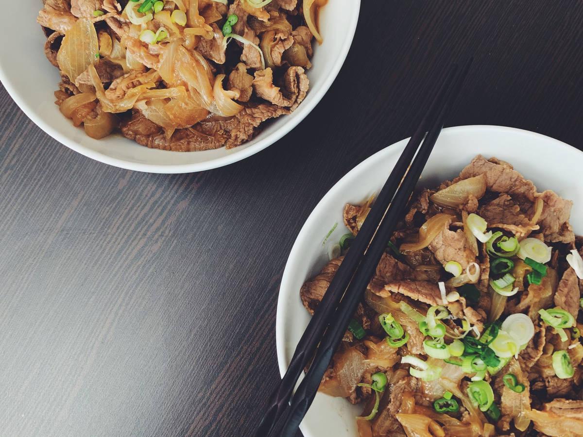 Gyudon-Japanese beef bowl