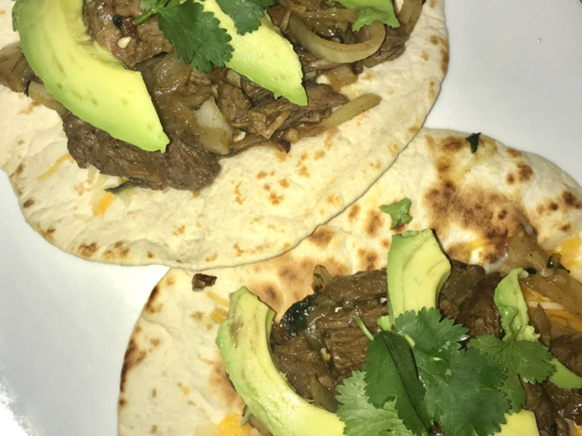 Grilled Citrus Marinated Steak Tacos w/ Chipotle Mayo