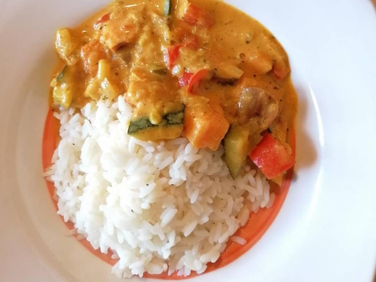 schnelles Gemüse - Curry