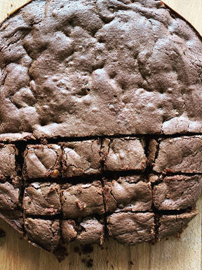 Salted Caramel Fudge Brownies