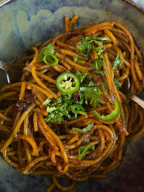 8 min. Chili Garlic Noodles