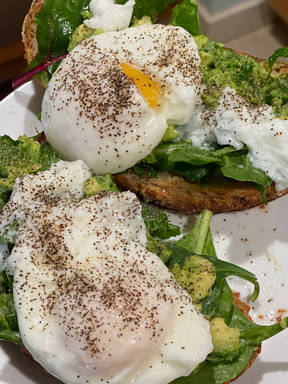 Poached Avo Toast- Perfect Post Workout Breakfast!